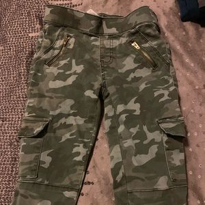 Justice size 12 camo pants, slim fit